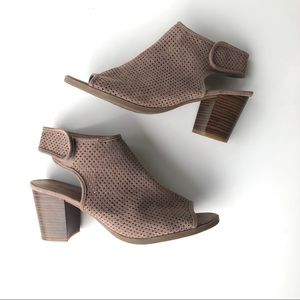 Seychelles Perforated Taupe Heels